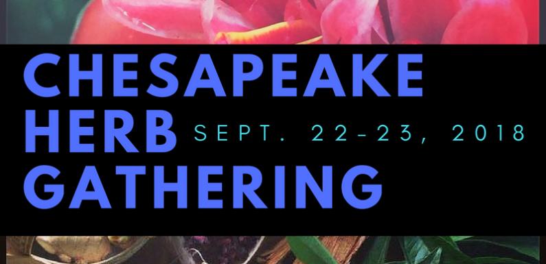 Chesapeake Herb Gathering this Weekend